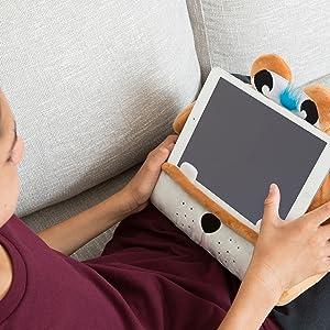 CuddlyReaders, Atril, cojín de Lectura para Libros, iPad, Tablet, eReader, Soporte sofá de Descanso, Idea de Regalo para niños - Modelo Puppy Pete: Amazon.es: Hogar