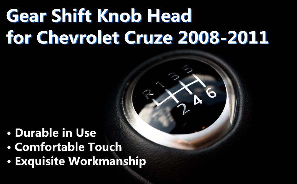 Tarente 5 Speed Car Gear Stick Shift Knob Head Compatible with Chevrolet Cruze 2008-2012