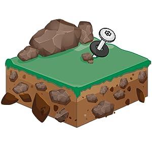 Zeltschraube für harte und steinige Böden.