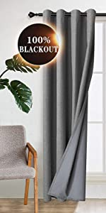 blackout curtains with coating curtain