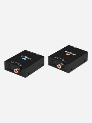 coaxial audio extender over cat 5e 6 7 gofanco