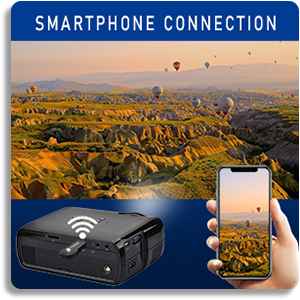 Everycom x7 Projector Smartphone Connection