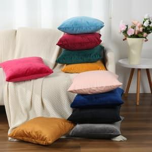 Soft decorative pillow cases queen size set of 2