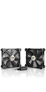 AC Infinity MULTIFAN S7 Quiet 120mm AC-Powered Fan Receiver DVR Playstation Xbox Component Cooling