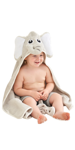 baby bath towels cotton soft baby hooded towels cute elephant hooded bath towels