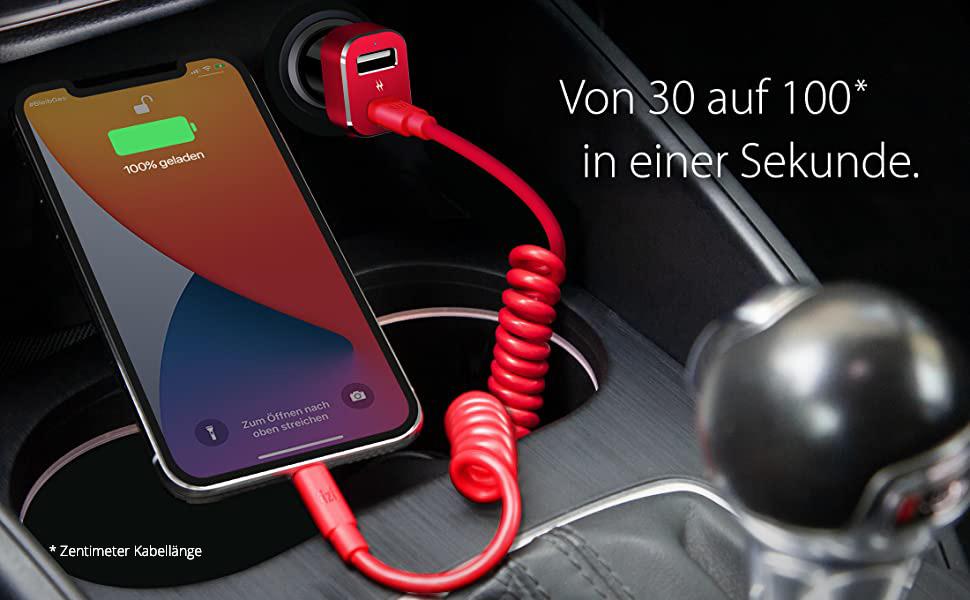 tizi Spiralkabel ULTRA Kabel Mfi Apple ladekabel aufladen iphone Kabel