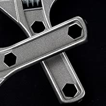 Muebles Fijaci/ón de Electrodom/ésticos Llave Ajustable de Mand/íbula Ancha Industria 6-68 mm Aleaci/ón de Aluminio Herramientas de Mano Llave Inglesa para Ba/ño