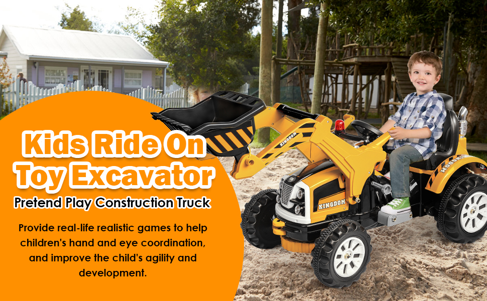 kids rideThe most realistic gaming experience on toy excavator