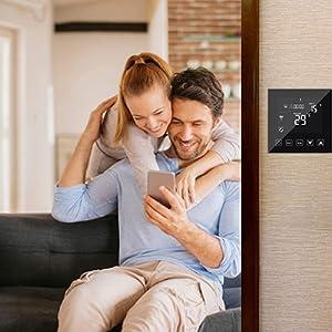 Smart Water/Gas Boiler Thermostat WiFi 3A Alexa Echo/Google Home/IFTTT/Tuya Compatible Room