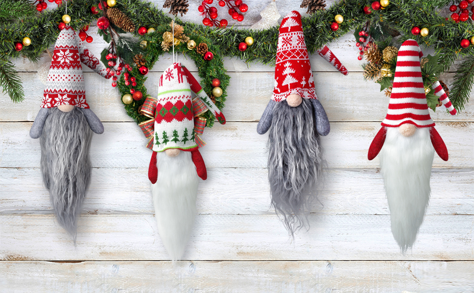 Large Gnome Christmas Plush Ornaments-Xmas Hanging Ornaments