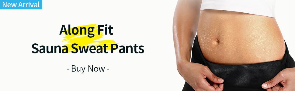 Along Fit sauna sweat pants for women