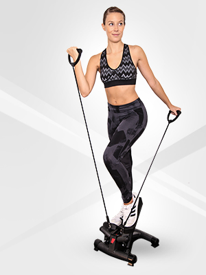 Sportstech Twister Stepper 2 en 1 Cuerdas de Resistencia - STX300 Escaladora y Swing Stepper