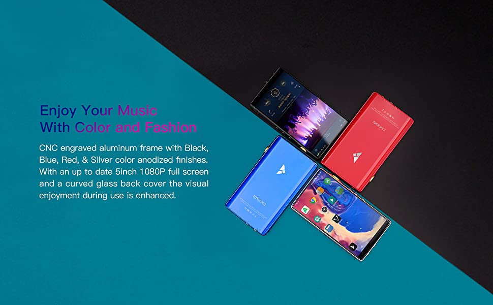 Black, Red, Blue, and Silver color options w/ 1080p Retina Screen
