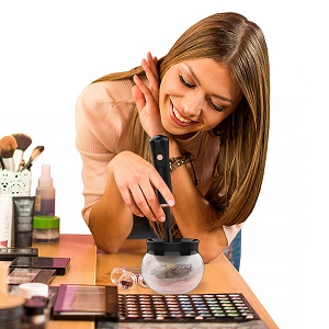 makeup brush cleaner and dryer machine