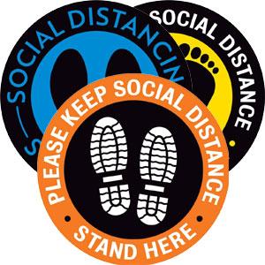 8 inch Social Distancing Decals