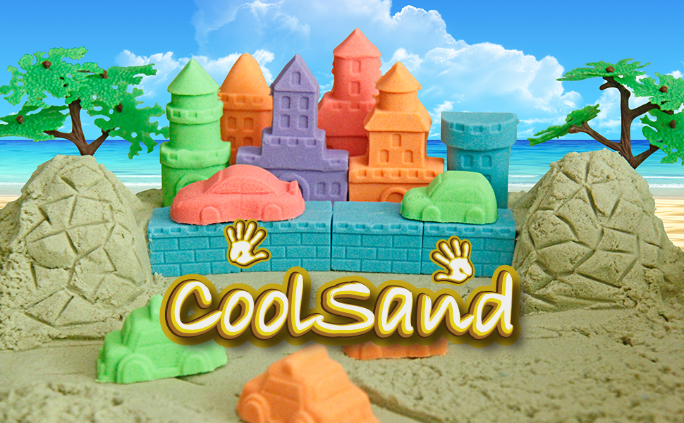CoolSand Non-Stick Kinetic Play Sand for Kids Ages 3 and Up