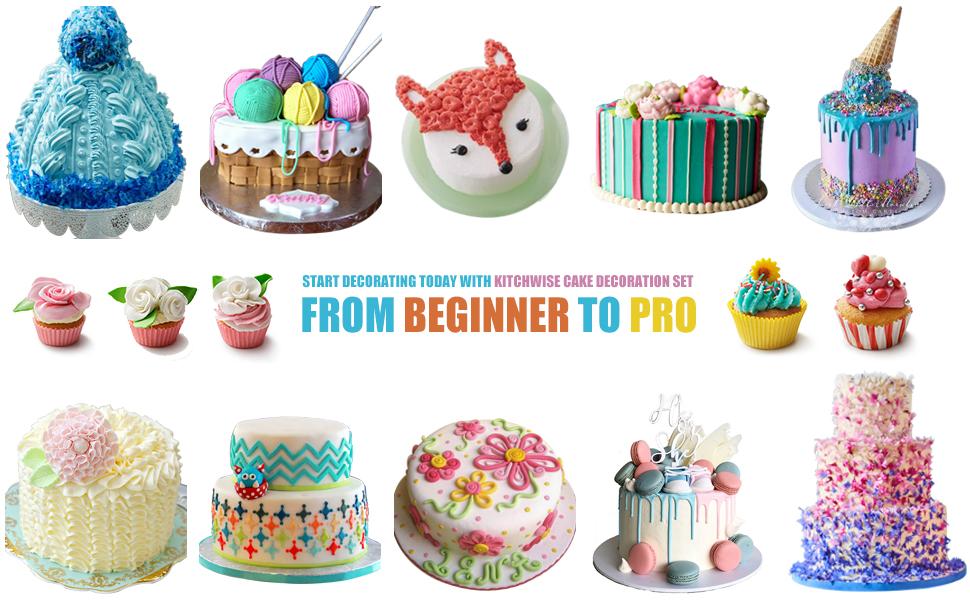 Kitchiwise/® Cake Decorating Supplies Tip Set 52 Pieces