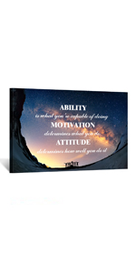 canvas quotes for dorm motivational wall art Success quote teamwork and support pictures for office