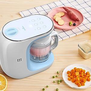 Robots de Cocina Eccomum Cocina al Vapor Procesador de Alimentos para Bebés Multifunción, Cuece al Vapor, Mezcla, Descongela y Calienta, LCD Panel de Control Táctil, Apagado Automático: Amazon.es: Bebé