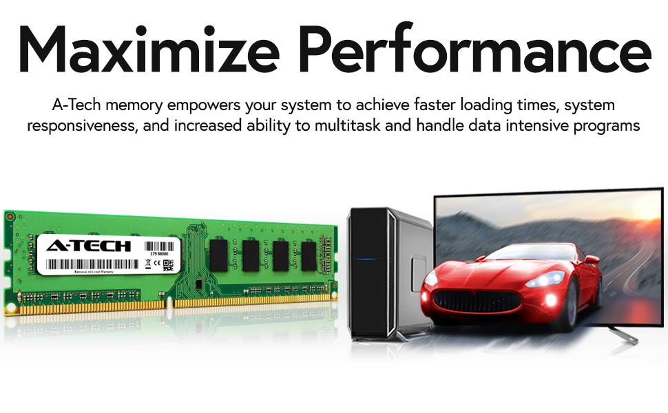 maximize performance ddr3 desktop dimm ram memory