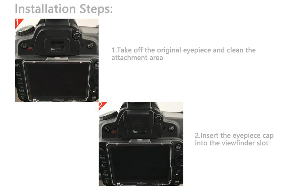 für Nikon DK-5 Ersatz-Sucherabdeckung U1E5