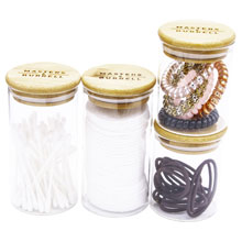 With Added Glass Storage Jars