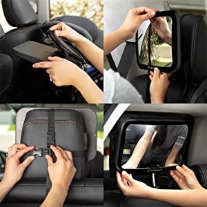rear view mirror accessories baby car seat carseat mirrors facing infant headrest backseat monitor