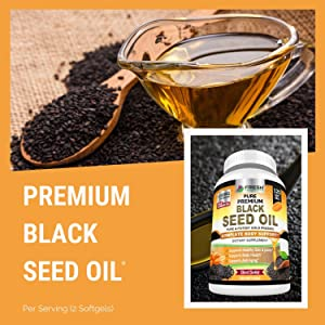 best black seed oil cold pressed organic capsules pills immune support booster boost vitamin  c d e