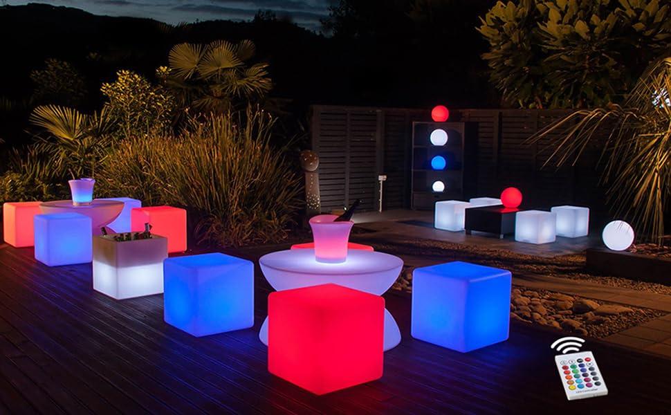Outdoor LED furniture set