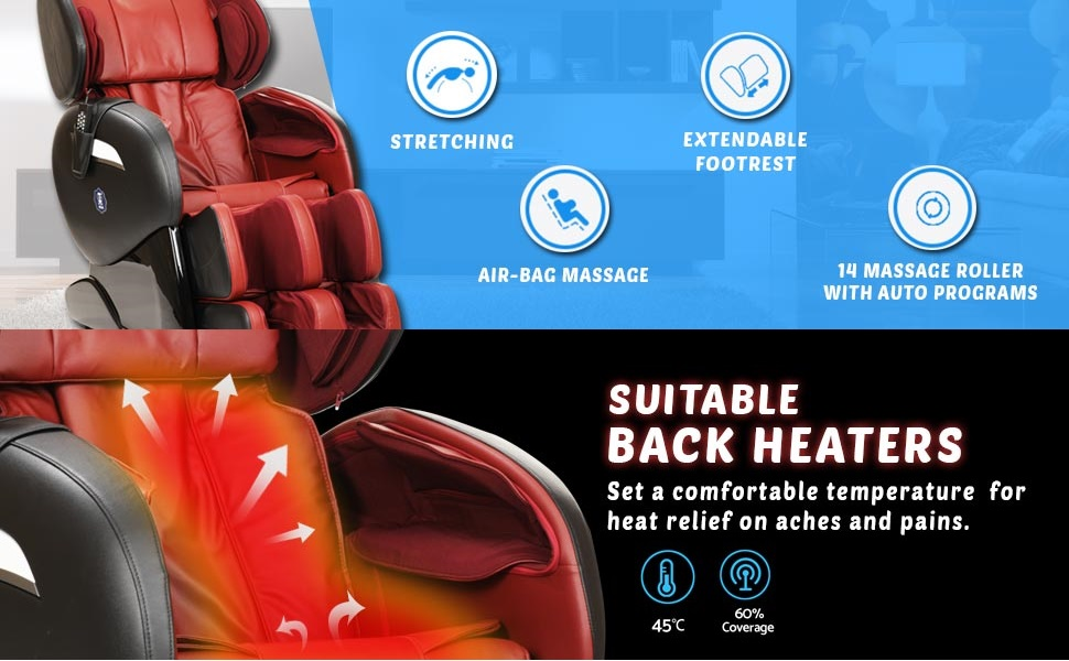 jsb mz30 massage chair with heat for home