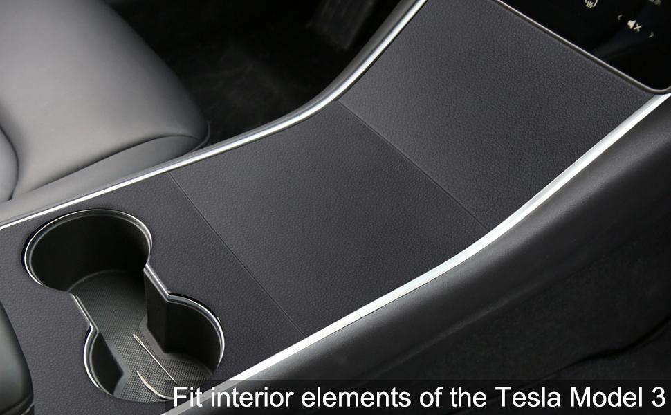 Amazon.com: Tesla Model 3 Center Console Leather Wrap Kit ...