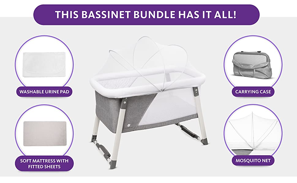 Travel Bassinet With Mosquito Net