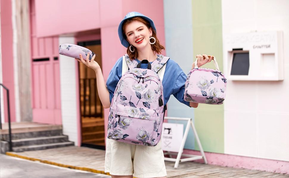 canvas backpack set