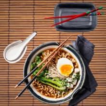 Japanese Dinnerware set bowls sauce spoon ramen chinese