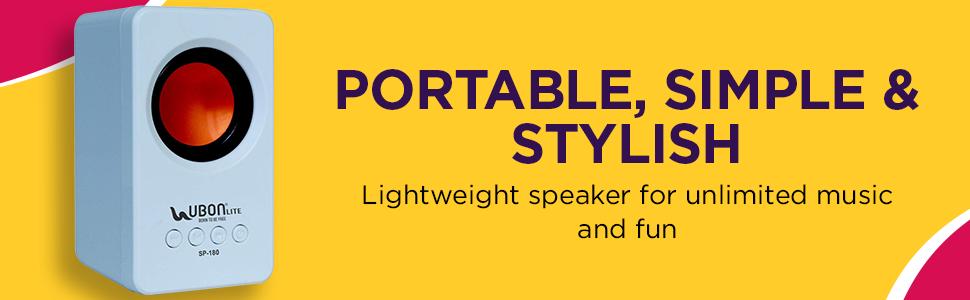 UBON SP-180 Wireless Bluetooth Speaker with Deep Base Portable Travel Speaker  SPN-FOR1