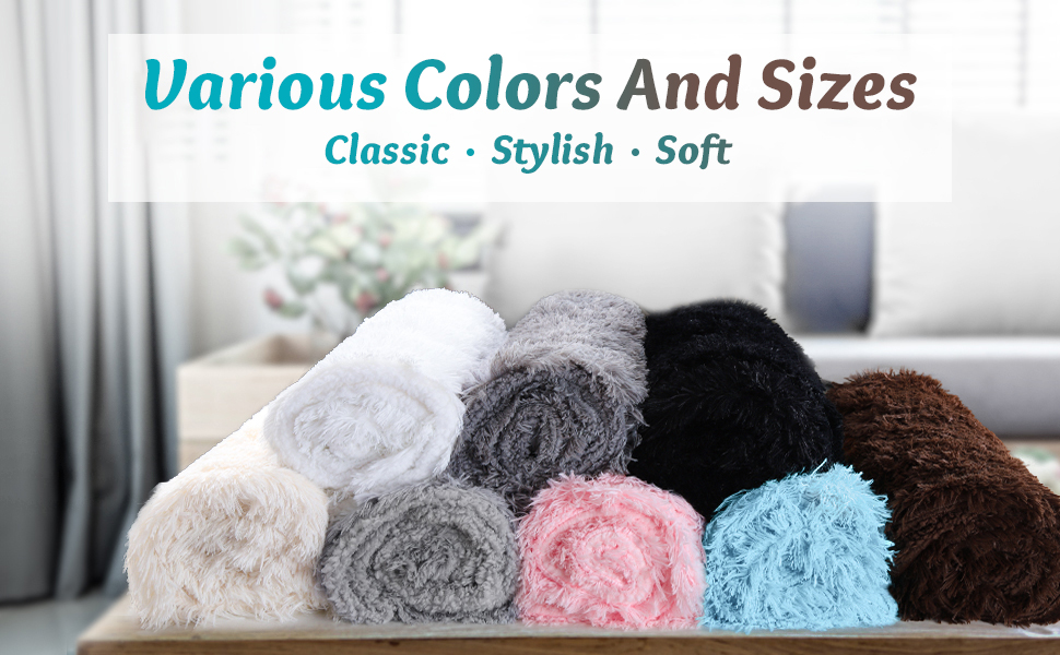 Various Colors and Sizes of Blankets