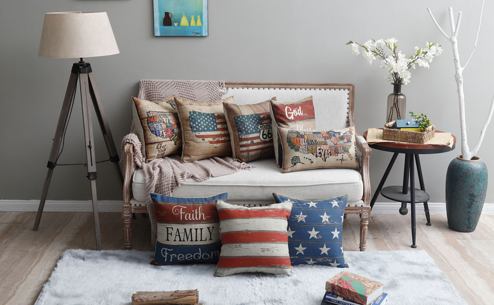 Linkwell 4th of July Pillow Cover