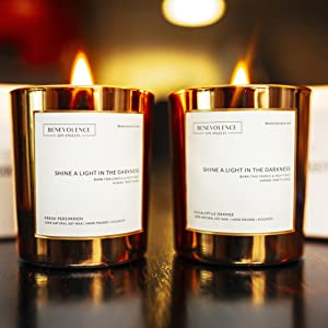 benevolence la aromatherapy candles soy wax hand poured essential oils