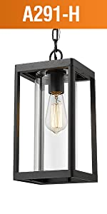 Beionxii Outdoor Hanging Lamp Modern Exterior Pendant Lights Porch Lantern