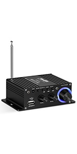 Moukey Mini Stereo Amplifier for Speakers