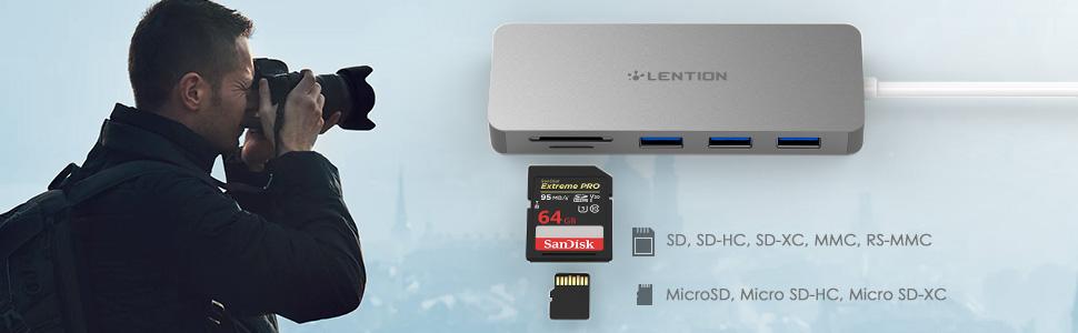 Multiport USB-C Hub Card Reader