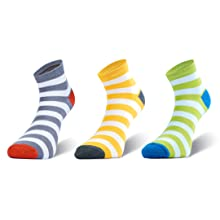 Women Girl Ankle length sport workout cycling hiking striped socks