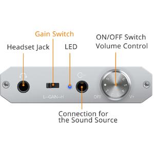 Audio Stereo Headphone Amplifier gain switch