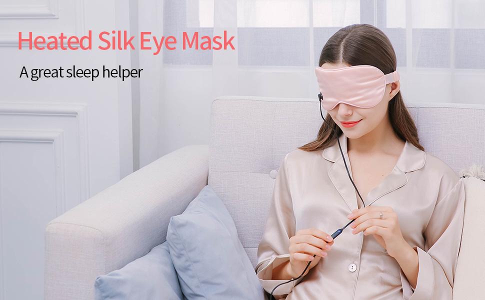 Eye mask warming, USB magnet NTONPOWER Soft silk eye mask, sleep aid, washable