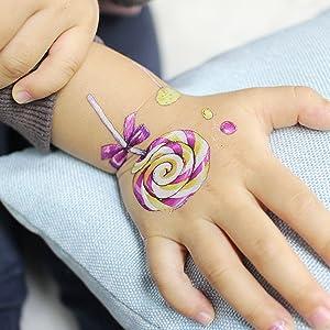 SZSMART Tatuajes Temporales para Niñas, 15 Hojas Pegatinas Dibujos ...