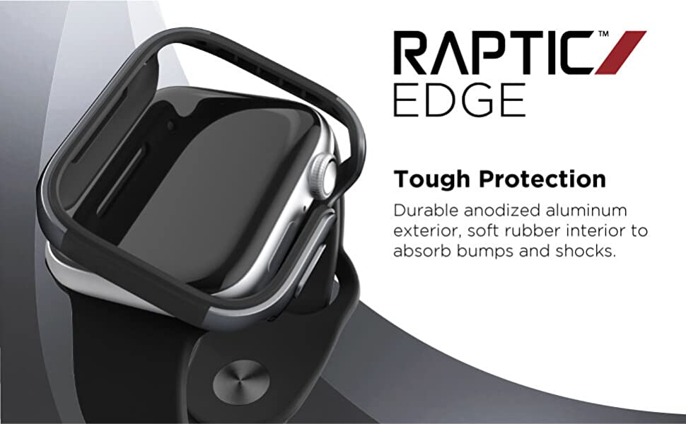 apple watch 44mm aluminum bumper frame exterior thin metal prevents scratches protection raptic
