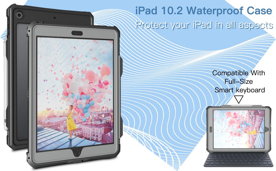 waterproof full protection ipad 10.2 case 2019