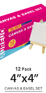 4x4, Canvas & easel set