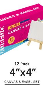 4x4, Canvas & easel set