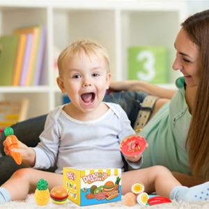 toddler food toys,kids pretend food sets for kitchen,kids vegetable playset,baby kitchen,cut fruit